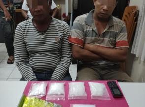 Tim Opsnal SatRes Narkoba Polres Kampar Tangkap 2 Pengedar Sabu