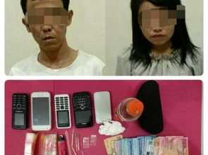 Satresnarkoba Polres Kampar Ciduk 2 Tersangka disebuah Rumah Kontrakan