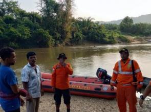 Pagi ini Tim SAR Gabungan Masih Lakukan Pencarian Korban Tenggelam  di sungai, di Kabupaten Kampar