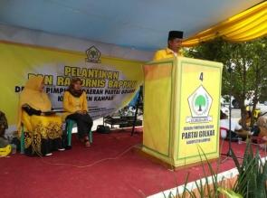 Khairil Amri Lantunkan Ayat Suci Al -Quran Pada Acara Pelantikan dan Rakornis Pengurus DPD Golkar Ka