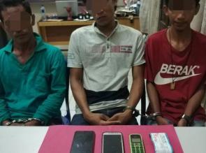 Tiga Pelaku Narkoba Diringkus Polisi di Desa Bukit Sakai