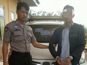 Pelaku Penggelapan Mobil Rental di Tapung Hulu Kampar Ditangkap