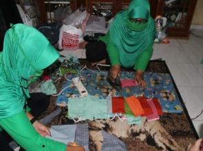 Ditengah Pandemi Covid 19, Kodim 0313/Kpr  produksi 20.000 masker secara serentak di Tiga Kabupaten