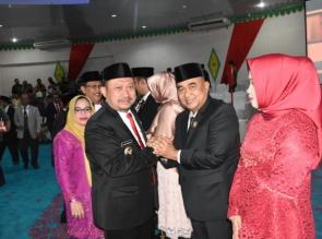 DPRD Kampar Gelar Rapat Paripurna Pengucapan Sumpah/Janji Pimpinan Periode 2019 - 2024