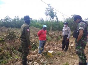 Cegah Karhutla Polsek Tapung Terus Lakukan Patroli Gabungan dan Pasang Himbuan