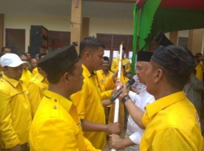 Andi Rahman Lantik 3 PK Golkar di Duri, Bengkalis