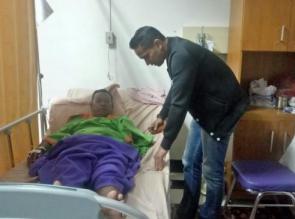 Kapolres Kampar Kunjungi Sumanto Ribo di Rumah Sakit, Korban Insiden Pecahnya Lelo
