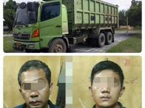 2 Pelaku Penggelapan Truk Tronton di Siak Hulu Ditangkap di Wilayah Sumbar