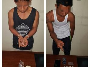 2 Pengedar Narkotika Jenis Shabu dan Daun Ganja Kering Diringkus Polisi