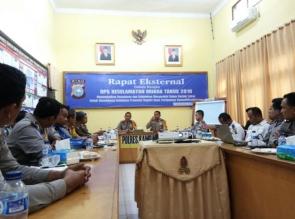 Polres Kampar Adakan Rapat Eksternal Persiapan Operasi Keselamatan Muara Takus 2018