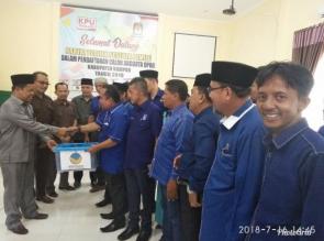 Daftarkan Bacaleg Ke KPU, Nasdem Targetkan 7 Kursi Di DPRD Kampar