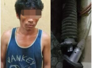 Polsek Tapung Tangkap Pelaku Pencurian Kabel Tiang Power Line Milik Pt. Chevron