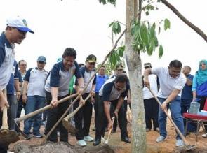 Pemprov Kepri Bersama Bank Riau Kepri Tanam 1000 Pohon Angsana