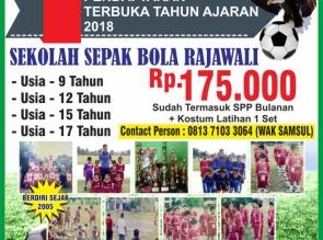 SSB Rajawali Buka Pendaftaran Tahun Ajaran 2018