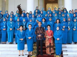 Ketua TP-PKK Kampar Muslimawati Catur Silaturahmi dengan Ibu Negara di Istana Bogor.