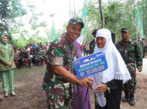 Danrem 031/WB didampingi Dandim 0313/Kpr, Pimpin Penghijauan Sambut Hari Juang TNI AD