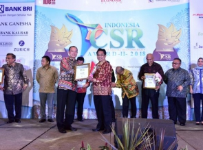 Bank Riau Kepri Raih Platinum Indonesia CSR Award 2018