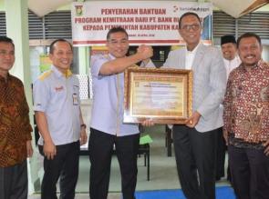 Salurkan CSR, Bank Riau Kepri Serahkan Peralatan Pencetakan KTP Elektronik