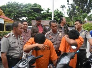 Polsek Bukit Raya ungkap 5 pelaku curanmor