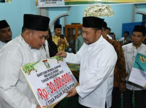 Safari Ramadhan Perdana Bupati Kampar disambut dengan Aspirasi masyarakat.