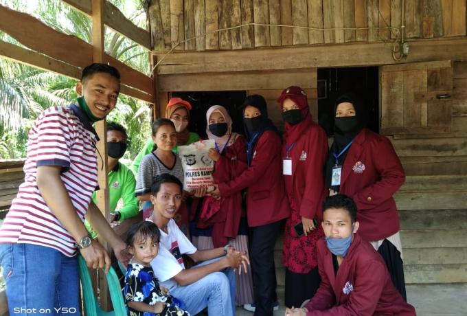 Mahasiswa KKN UP Bersama Polres Kampar Laksanakan Kegiatan