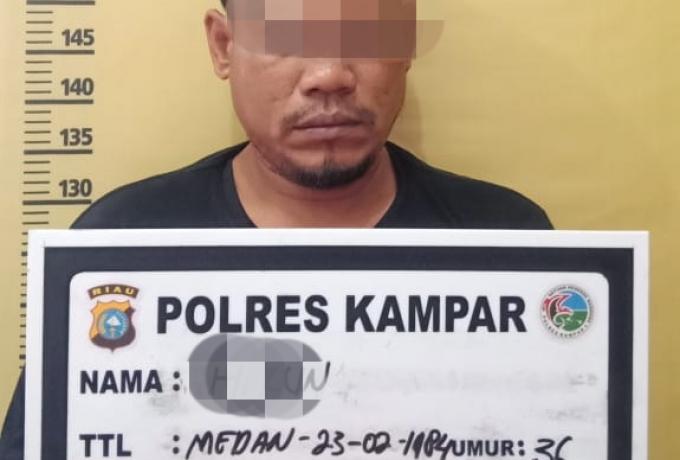 Resnarkoba Polres Tangkap Seorang Pelaku Narkoba di Desa Pangkalan Baru Siak Hulu