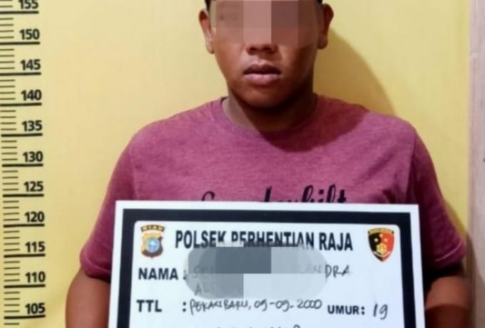 Usai Maling Nginap Di Hotel, Pelaku Ditangkap Polsek Perhentian Raja