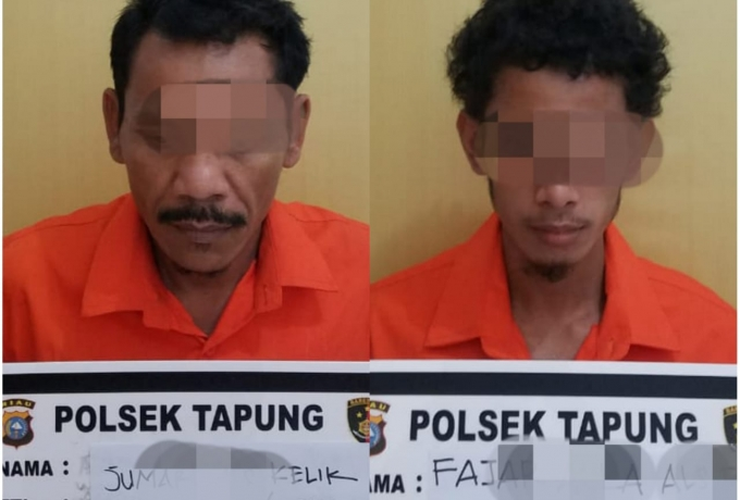 Polsek Tapung Tangkap  Dua Pelaku Curanmor Beberapa Jam Setelah Kejadian