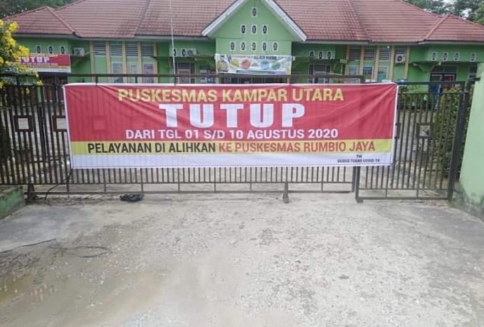 Pelayanan Puskesmas Kampar Utara dihentikan sementara, Puskesmas Bangkinang Kota mulai dibuka kembal