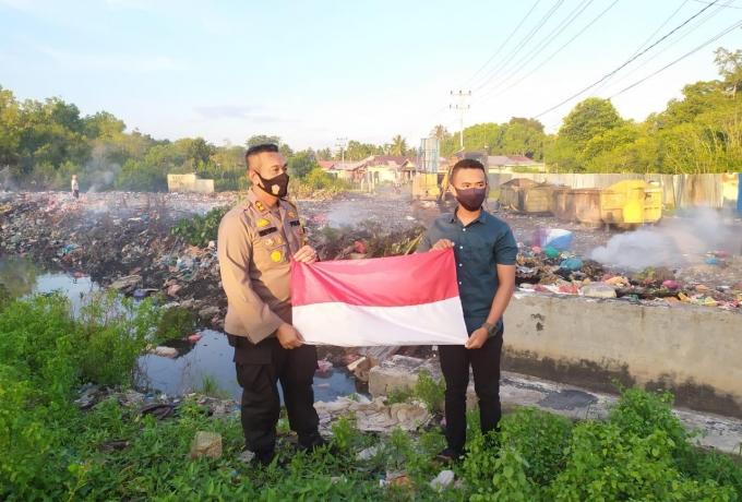 Anak Penyelamat Bendera Merah Putih Dapat Penghargaan Dari Kapolres Meranti