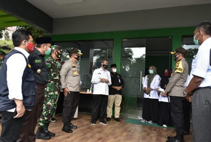 Tanggap Covid 19, Gubri dan Forkopimda Riau Tinjau Kabupaten Kampar