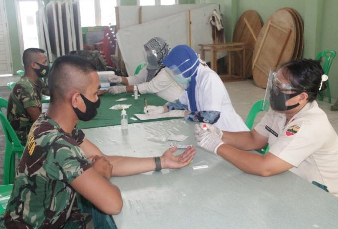 32 Prajurit Tamtama Remaja Kodim 0313/KPR jalani Rapid test