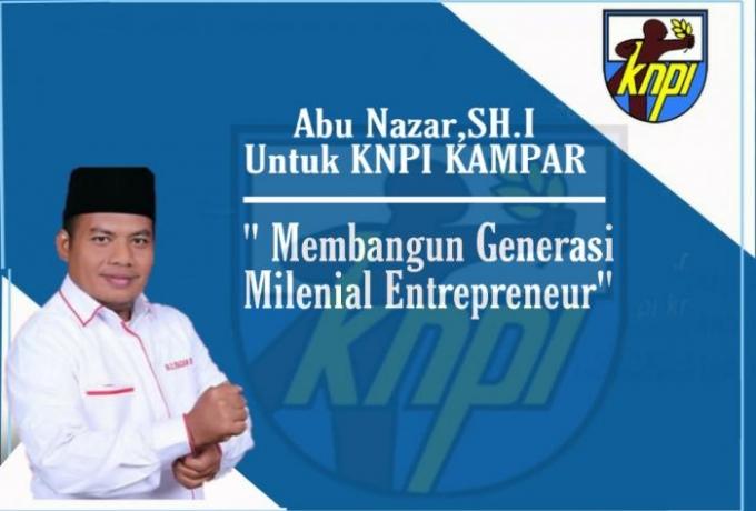 Abu Nazar Pimpin DPD KNPI Kabupaten Kampar