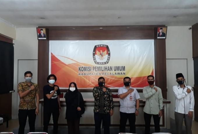 HIPMAWAN Silahturahmi bersama KPU Kabupaten Pelalawan