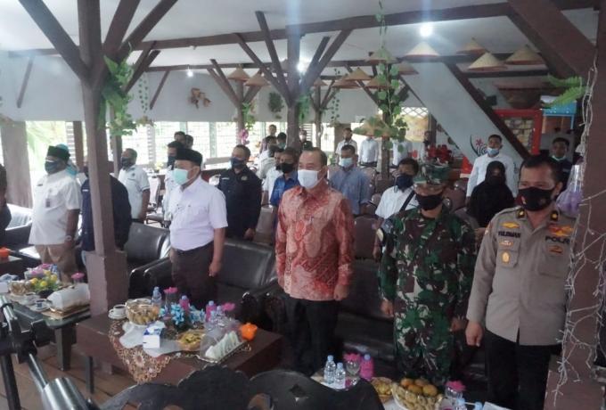 Wakili Dandim 0313/KPR, Pasiter Hadiri Konferensi PWI Ke  VI Kabupaten Kampar Tahun 2020