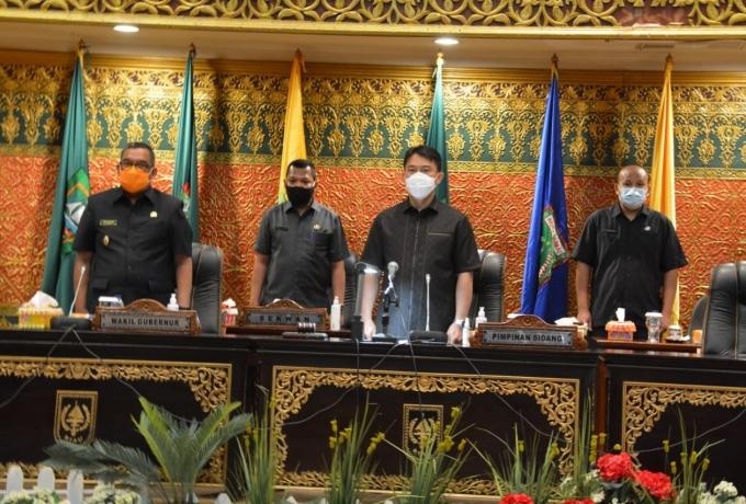 DPRD Riau Gelar Rapat Paripurna Penyampaian Usulan dan Peresmian Calon Pengganti Pimpinan