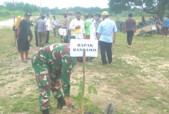 Kapten Inf M. Fadhil Laksanakan Gerakan Menanam Pohon