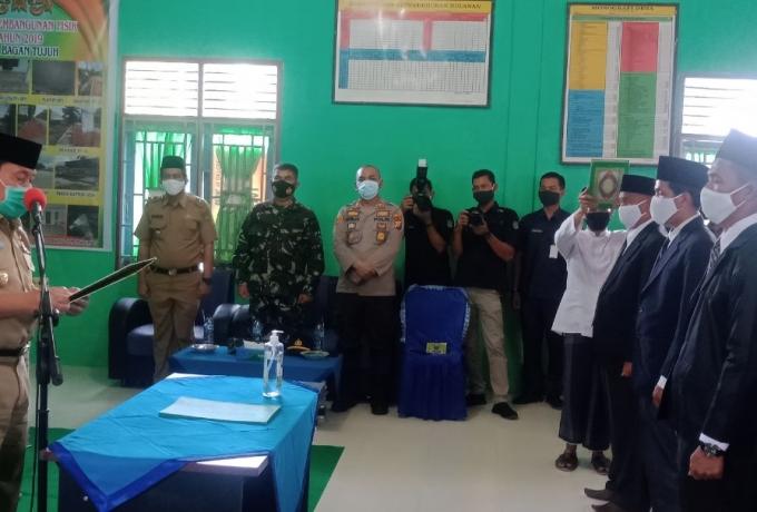 Danramil 0313 -10/Kunto Darusslam Kapten Inf Fadhil Hadiri Pelantikan BPD