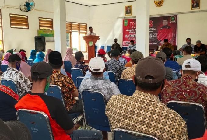 Gelar Reses,  H. Syafaruddin Poti. SH Siap Perjuangkan Aspirasi Masyarakat Pasir Jaya dan Utama.