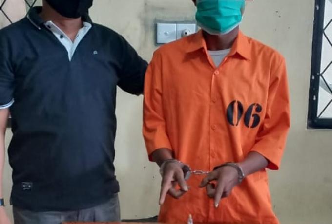 Polsek Tapung Kembali Tangkap Pelaku Narkoba Bersama Belasan Paket Shabu Siap Edar