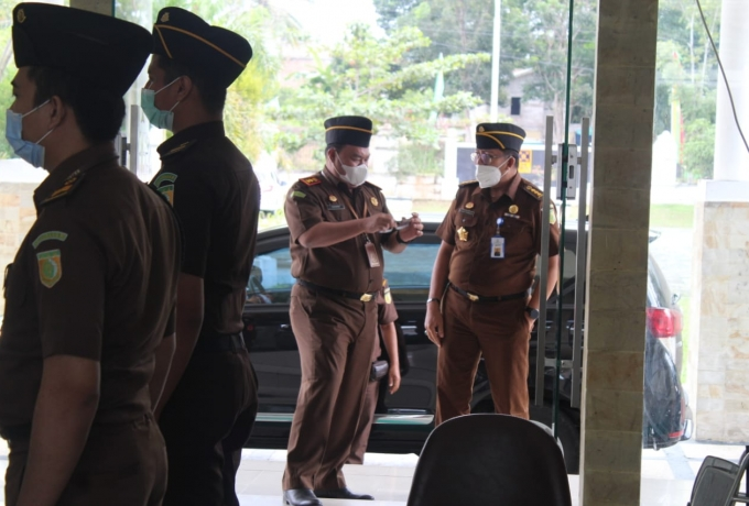 Kejari Kampar Sambut Kedatangan Tim Pengawasan dari Kejati Riau
