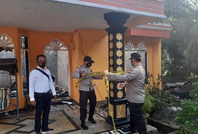 Satu Unit Rumah di Desa Sei Pagar Hangus Terbakar, Tidak Ada Korban Jiwa dan Kerugian Ditaksir Rp 30