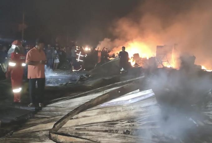 52 Ruko, 7 Kios, Dipasar SP 1 Kijang Jaya Ludes Terbakar, 2 Korban Jiwa dan Kerugian Ditaksir Miliar