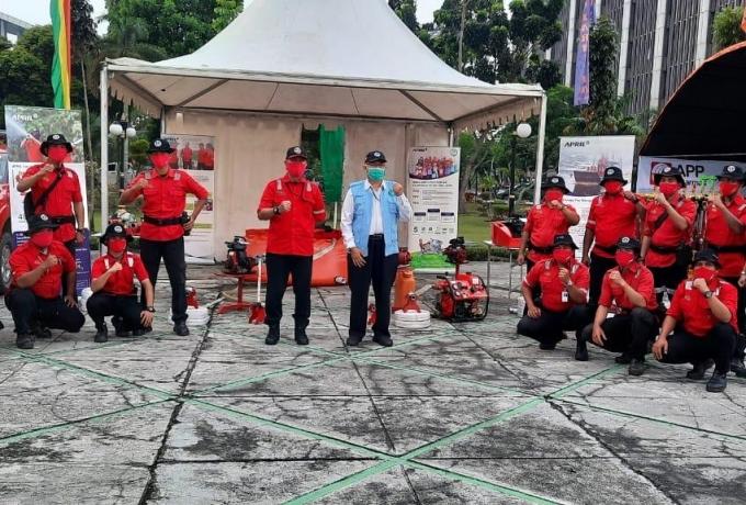 Ikut Apel Siaga Karhutla,  PT RAPP Komit Dukung Pemerintah Atasi Karhutla di Riau