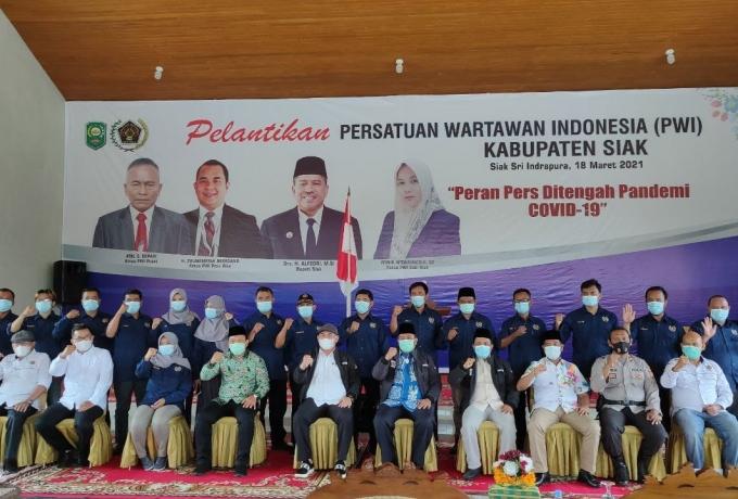 Pelantikan Pengurus PWI Kabupaten Siak Dihadiri Ketua PWI Riau