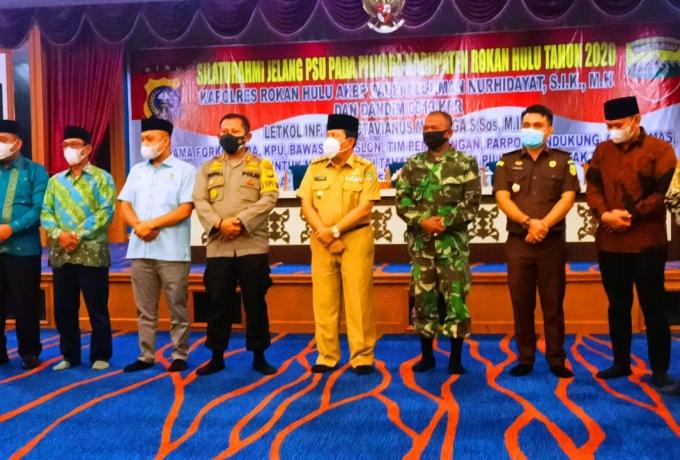 Menjelang PSU, Kapolres Rohul Bersama Dandim 0313/KPR Deklarasi Jaga Kamtibmas