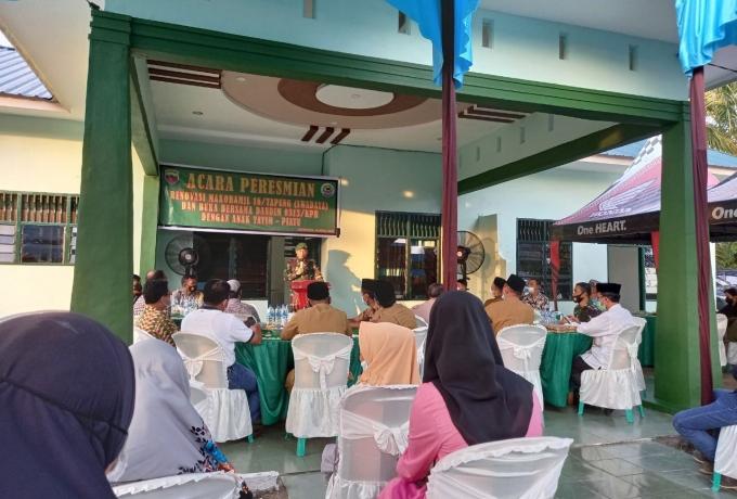 Dandim Resmikan Renovasi Kantor Koramil 16/Tapung Swadaya