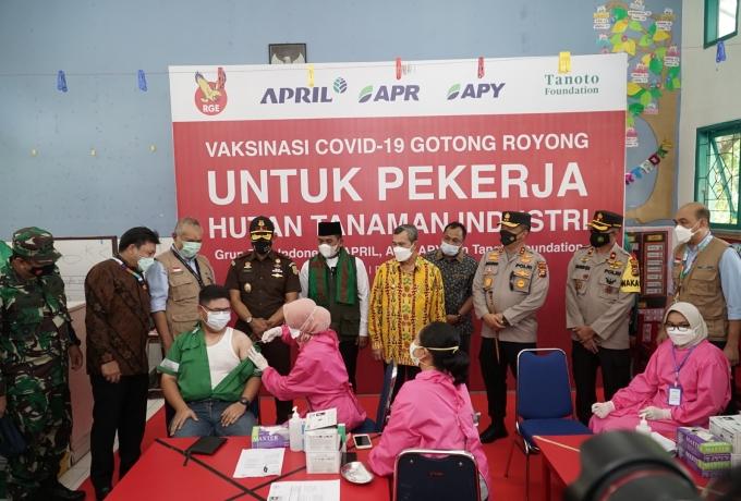 Sukseskan Vaksinasi Gotong Royong, RAPP Dukung Pemulihan Ekonomi Sektor Hutan Tanaman Industri