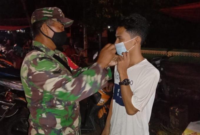 TNI POLRI Himbau Warga Ikuti Prokes Covid 19