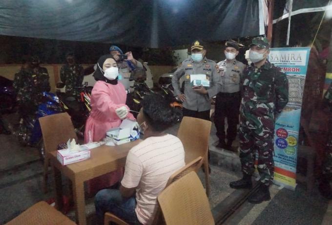 Dandim 0313/KPR Pimpin Apel Gabungan Dan Patroli Tim Satgas Covid 19 di Kabupaten Kampar